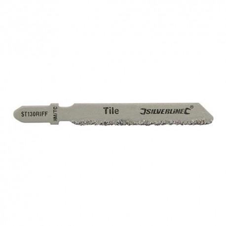 3 lames de scie sauteuse LU 50mm pour la céramique - 228749 - Silverline
