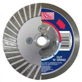 Disque diamant avec flasque pour couper et meuler 125DPCNG - D. 125 mm x M14 - Matériaux de construction - 20971 - Duro Plus