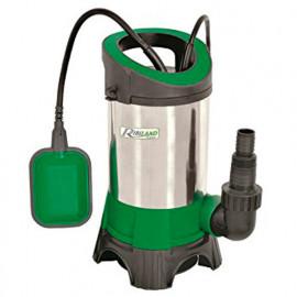 Pompe vide-cave eaux chargées inox base plastique + flotteur 900W 230V - PRPVC901CIP - Ribiland