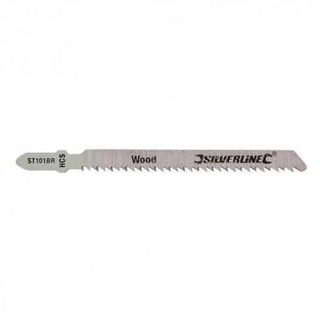5 lames de scie sauteuse LU 75 mm HCS pour le bois - 233425 - Silverline