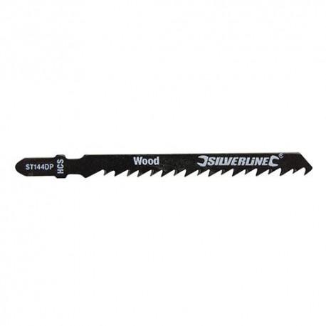 5 lames de scie sauteuse LU 75 mm HCS pour le bois - 233613 - Silverline