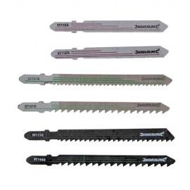 Assortiment de 30 lames de scie sauteuse pour bois/métal - 234184 - Silverline