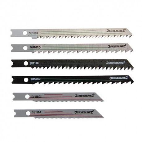 Assortiment de 30 lames de scie sauteuse pour bois/métal - 234292 - Silverline