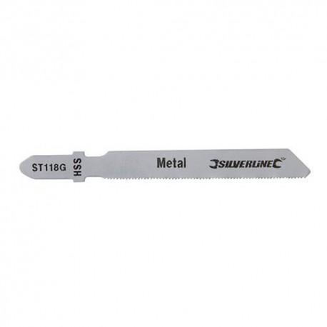 5 lames de scie sauteuse LU 50 mm HSS pour le métal - 234320 - Silverline