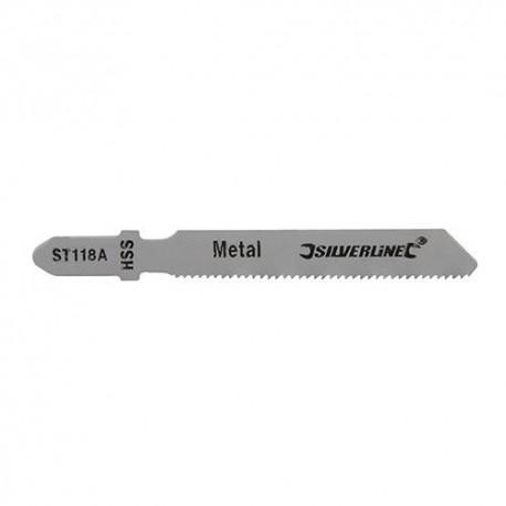 5 lames de scie sauteuse LU 50 mm HSS pour le métal - 234444 - Silverline