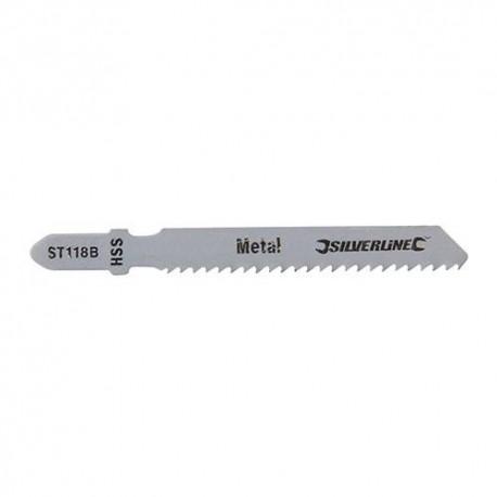 5 lames de scie sauteuse LU 50 mm HSS pour le métal - 234837 - Silverline