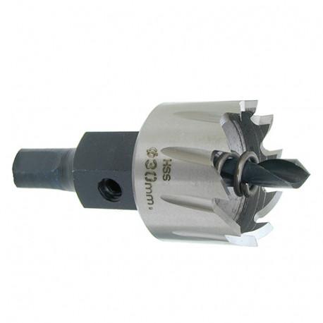 1 trépan HSS réaffûtable D. 80 x Lu. 25 x Q. Héx - 71040000800 - Hepyc