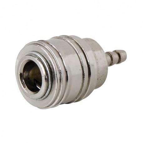 Coupleur rapide Euro L. 40 mm pour tuyau air comprimé 8 mm ( intérieur) - 238650 - Silverline