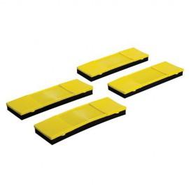 4 protections 180 x 59 mm pour les sangles d' arrimage - 238937 - Silverline