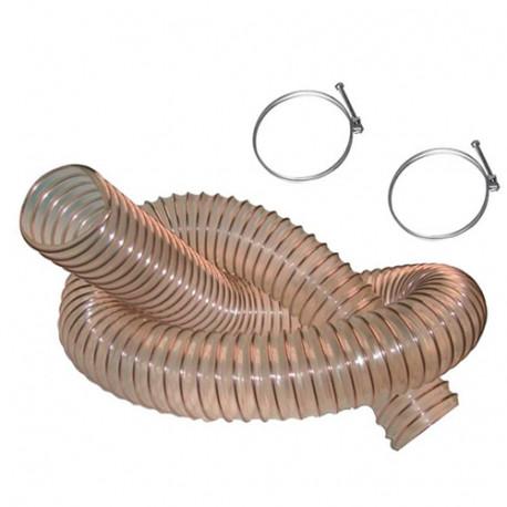 5 M de tuyau flexible d'aspiration PU acier cuivré D. 100 mm + 2 colliers de serrage - DW-257258000 - fixtout
