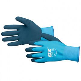 Gants latex imperméable - Bleu - OXS4838 - OX