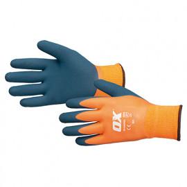 Gants latex thermique imperméable - Bleu et Orange - OXS4839 - OX