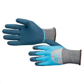Gants latex anti-coupure 3 imperméable - Bleu et Gris - OXS4841 - OX