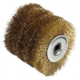 Brosse fil laitonée 0.3 mm D. 120 x Al. 19,5 x ép. 100 mm pour REX120 - 110885 - Fartools