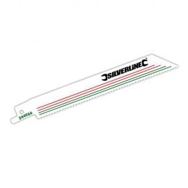 5 lames de scie sabre, Pas de 2,5 mm LU 150mm 10 TPI pour métal/bois - 244966 - Silverline