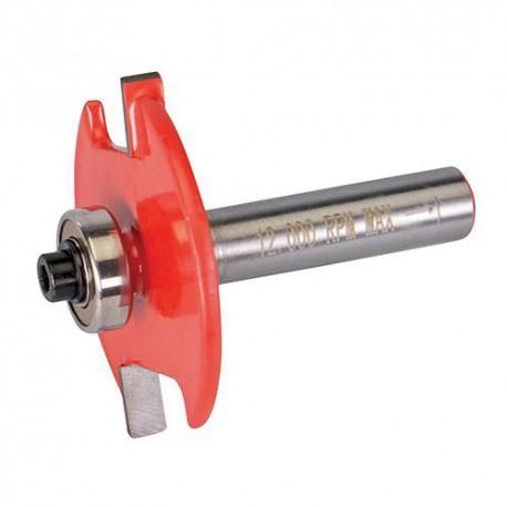 Mèche à rainurer D. 41x 4 mm avec 2 roulements, queue de 8 mm pour lamelles N° 10 et 20 - 249157 - Silverline