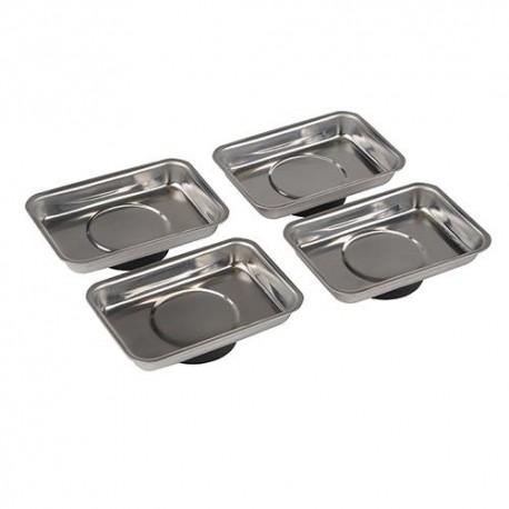 4 plateaux magnétiques pour vis 95 x 65 mm - 250007 - Silverline