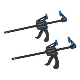 2 serre-joint à serrage rapide saillie de 34 x 150 mm - 250115 - Silverline