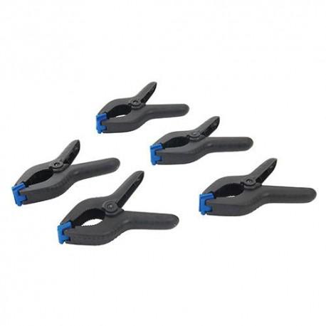 5 pinces de serrage Mâchoires 60 mm - 250136 - Silverline
