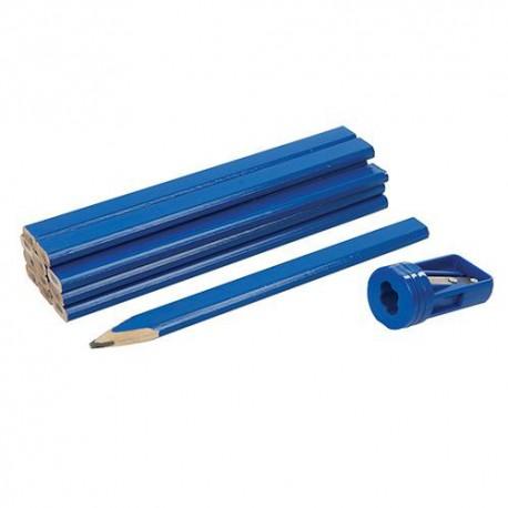 Ensemble 13 pcs de crayons de menuisier et taille-crayon - 250227 - Silverline