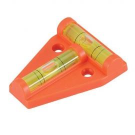 Mini niveau bi-plan à bulles 60 x 45 mm - 250450 - Silverline