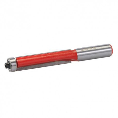 Mèche à affleurer D. 12.7 x 50 mm avec roulement, queue de 12 mm - 252943 - Silverline