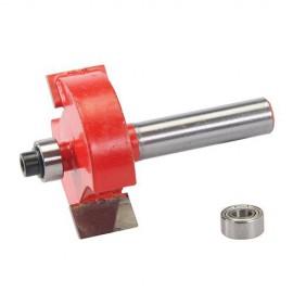 Mèche à feuillurer D. 35 x 12,7 mm avec roulement, queue de 8 mm - 254118 - Silverline