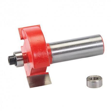 Mèche à feuillurer D. 35 x 12.7 mm avec roulement, queue de 12 mm - 254616 - Silverline