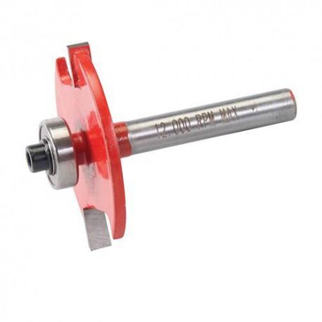 Mèche à rainurer D. 35 x 4 mm avec roulement, queue de 12 mm pour lamelles N° 10 et 20 - 254902 - Silverline
