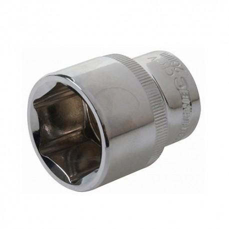 """Douille métrique 1/2"""" D. 20 mm en chrome-vanadium - 257692 - Silverline"""