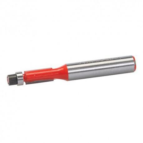 Mèche à affleurer D. 12,7 x 25,4 mm avec roulement, queue de 8 mm - 258377 - Silverline