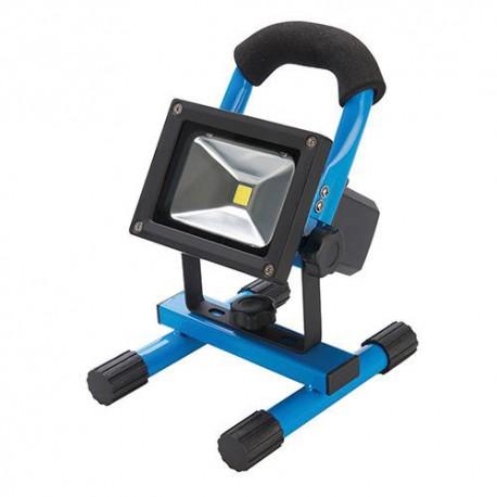 Projecteur de chantier électrique LED 10W 700 lm rechargeable avec port USB intégré - 258999 - Silverline