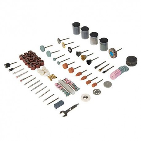 Ensemble 216 accessoires pour outil multifonction sur tige de 3,17 mm - 267204 - Silverline