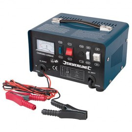 Chargeur de batterie 12 / 24 V pour batteries de 12 Ah à 70 Ah - 268317 - Silverline