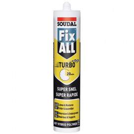 Mastic colle Fix All TURBO 290 ML Blanc - 121923 - Soudal