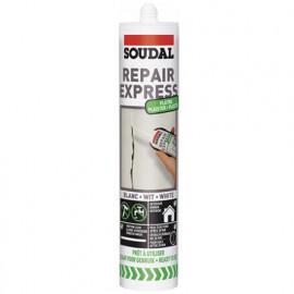Cartouche mastic spéciale Plâtre 290 ML repair express blanc - 122525 - Soudal