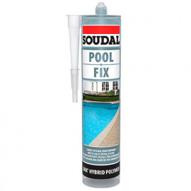 Mastic colle spécial piscine 290 ML Pool fix Translucide - 132196 - Soudal