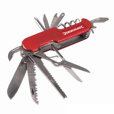 Couteau de poche 14 fonctions 75mm - 270627 - Silverline