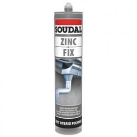 Mastic colle spécial zinc et toiture 290 ML Zinc fix Gris - 134631 - Soudal