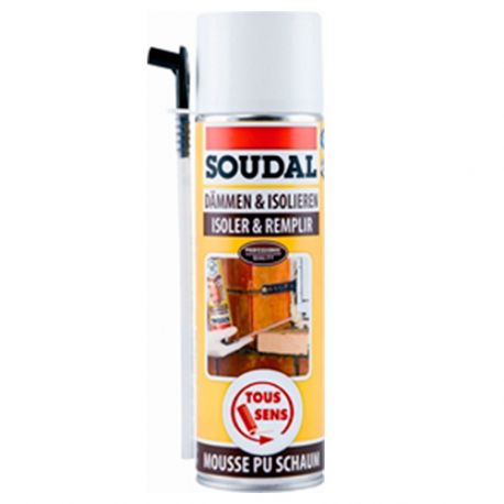 Bombe de mousse polyuréthane 500 ML DIY - 101345 - Soudal