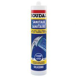 Cartouche de silicone sanitaire 300ml Acétique blanc - 102252 - Soudal