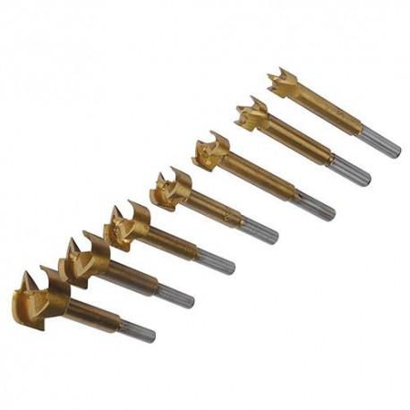 7 mèches Forstner TiN D. 12, 16, 20, 22, 26, 30 et 35 mm - 273203 - Silverline