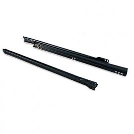 Paire de coulisses pour tiroir T30 à sortie partielle L 400 mm finition noir - 4388814 - Emuca