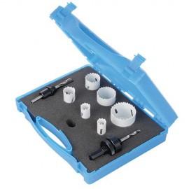 Coffret de 6 trépans bi-métal ø 18, 20, 25, 32, 40 et 51 mm (Spécial électricien) - 273220 - Silverline