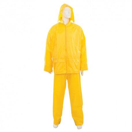 Tenue imperméable jaune 2 pcs XXL 79 - 138 cm cm - 273228 - Silverline