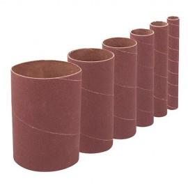 6 manchons de ponçage D.13 mm, 19 mm, 26 mm, 38 mm, 51 mm et 76 mm Grain 120 Ht 90 mm - 275267 - Silverline