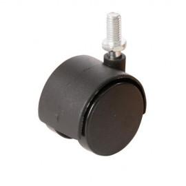4 roulettes jumelées sur tige filetée de 40 mm - 275361 - Fixman