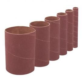 6 manchons de ponçage D.13 mm, 19 mm, 26 mm, 38 mm, 51 mm et 76 mm Grain 60 Ht 140 mm - 275735 - Silverline