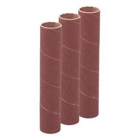 Ensemble de 3 manchons de ponçage D. 19 mm Grain 80 Ht140 mm - 277522 - Silverline