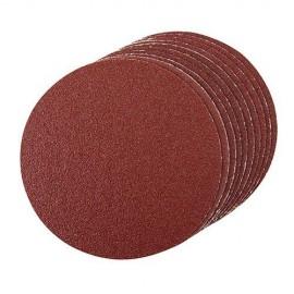 10 disques abrasifs non-perforés autocollants D. 150 mm Grain 120 - 277865 - Silverline